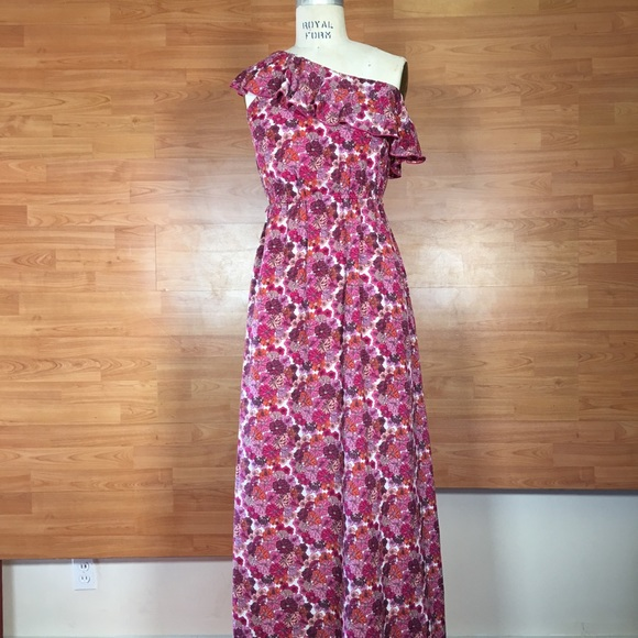 Liberty Dresses Of London Pink One Shoulder Maxi Dress Poshmark